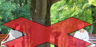 Prepoved sedenja na klopcah