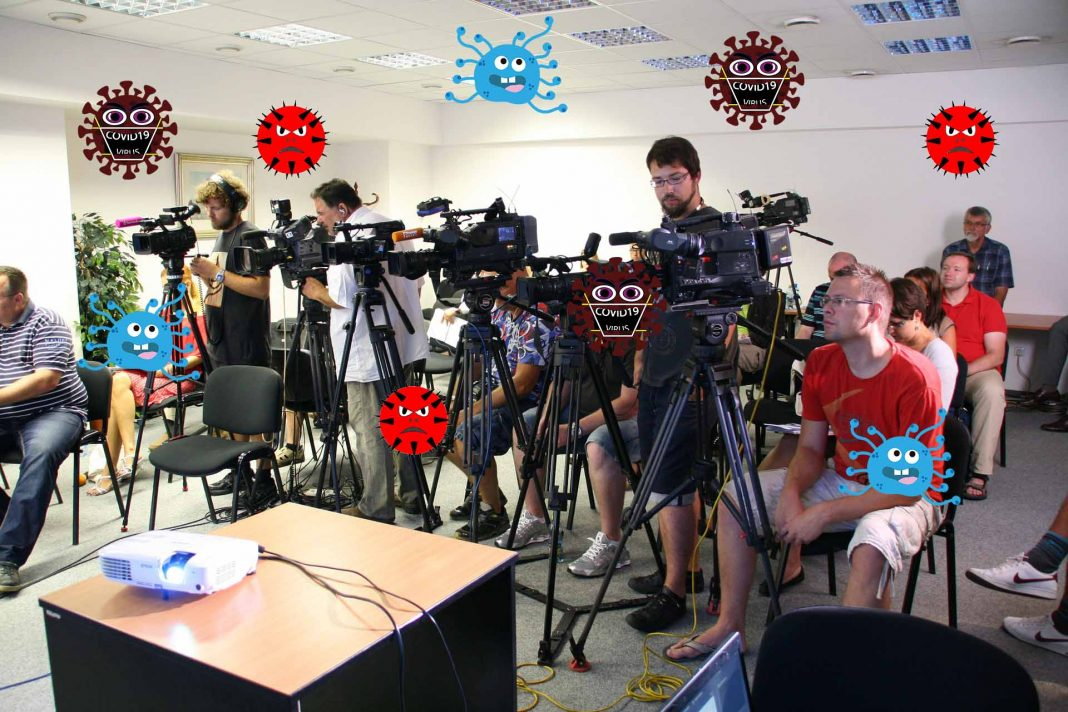 Toskovne konference brez novinarjev