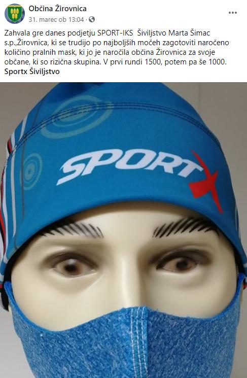 Zaščitne maske za občane Žirovnice