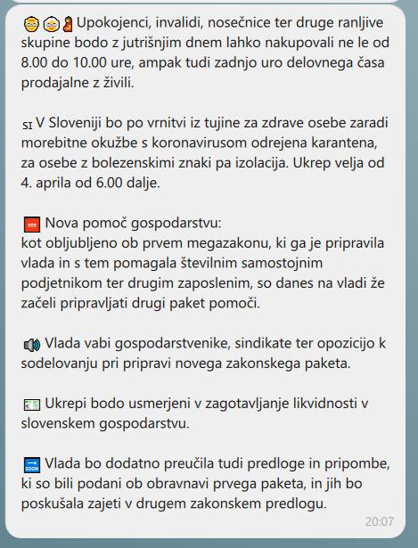Vlada preko Viber aplikacije