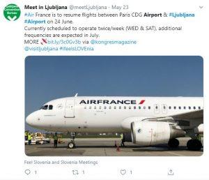 Air France v Ljubljano