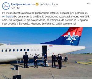 Air Serbia na Brniku