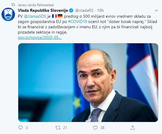 Janša o pomoči EU