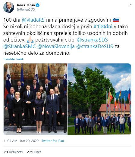 100 dni vlade Janeza Janše