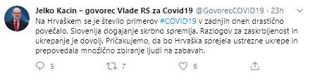 Hrvaška mora omejiti množično zbiranje ljudi