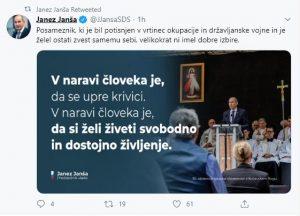 Janez Janša ob slovesnosti