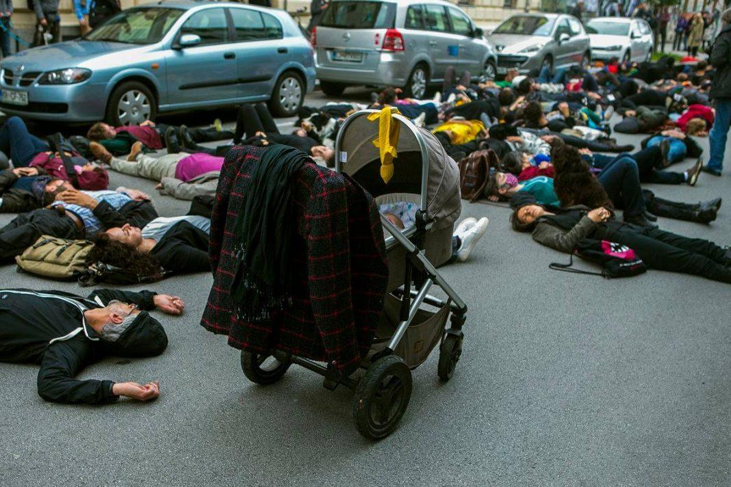 Protesti pred ministrstvom za kulturo