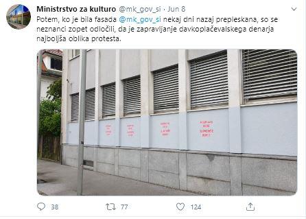 Vandalisti med protesti