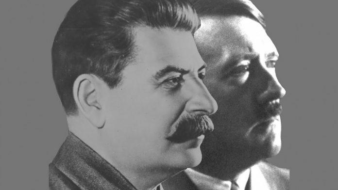 Pakt komunizma in nacizma. Foto: Twitter