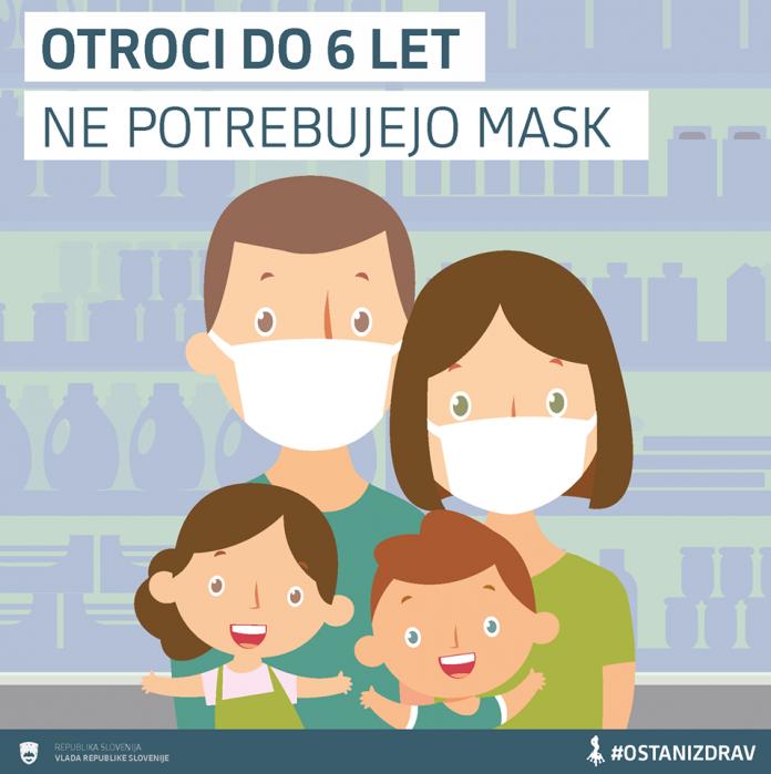 Otroci ne potrebujejo mask!